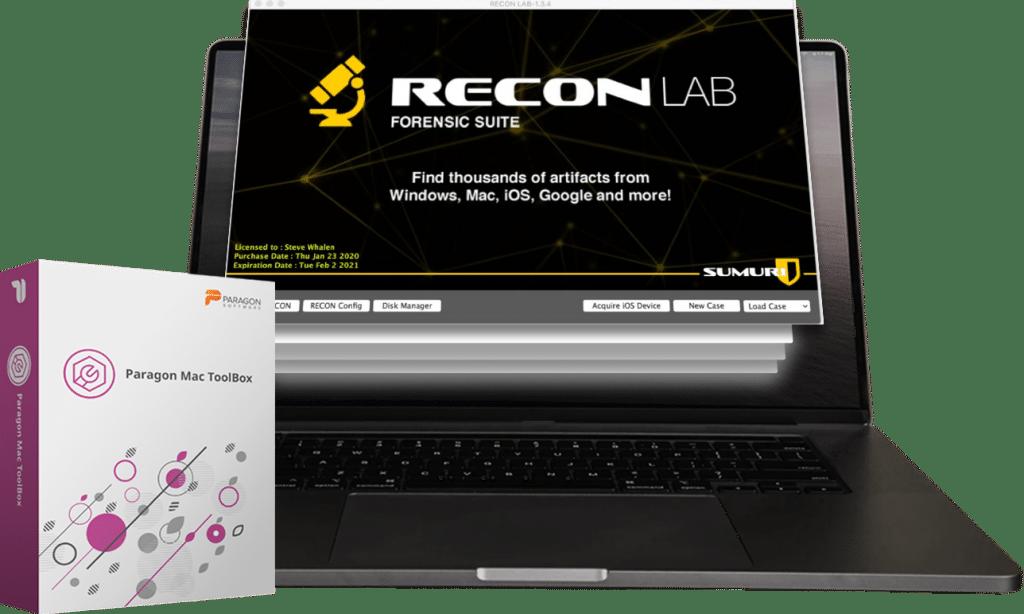 RECON LAB Includes Paragon's Mac Toolbox