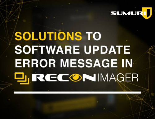 Solutions to Software Update Error Message in RECON IMAGER